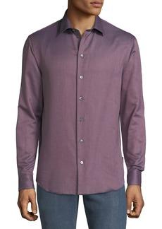 Armani Men's Micro-Pattern Sport Shirt