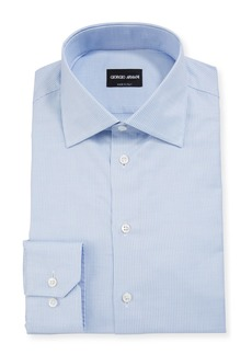 Armani Men's Micro-Stripe Cotton Dress Shirt
