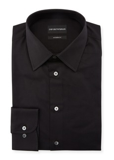 Armani Men's Modern-Fit Cotton-Stretch Dress Shirt  Black