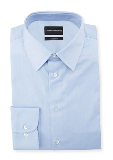 Armani Men's Modern-Fit Cotton-Stretch Dress Shirt  Blue