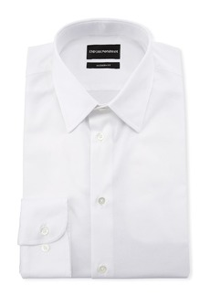 Armani Men's Modern-Fit Cotton-Stretch Dress Shirt  White