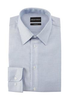 Armani Men's Modern Fit Micro-Stripe Cotton-Blend Dress Shirt