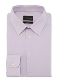 Armani Men's Modern-Fit Solid Stretch Broadcloth Dress Shirt