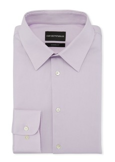 Armani Men's Modern-Fit Solid Stretch Broadcloth Dress Shirt