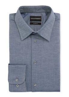 Armani Men's Modern-Fit Stretch Chambray Dress Shirt