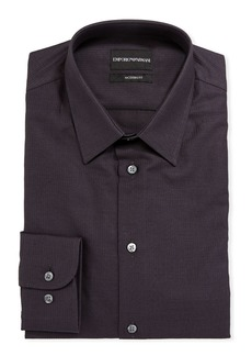 Armani Men's Modern-Fit Textured Cotton Dress Shirt