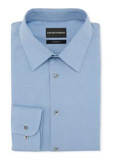 Armani Men's Modern Fit Textured Neat Cotton Dress Shirt