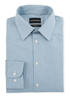 Armani Men's Modern-Fit Tonal Geometric Square Dress Shirt