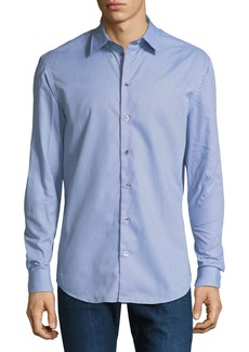 Armani Men's Multi-Circle Cotton Sport Shirt