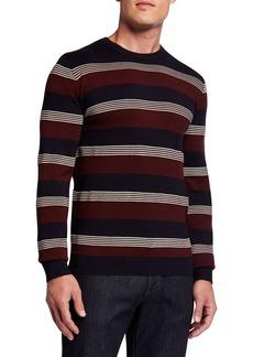 Armani Men's Multi-Stripe Crewneck Sweater
