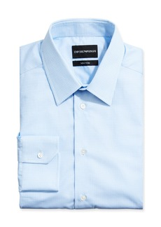 Armani Men's New York Check Cotton Dress Shirt