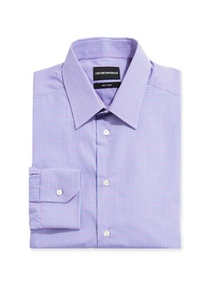 Armani Men's New York Check Dress Shirt