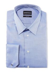 Armani Men's New York Micro-Pattern Dress Shirt  Medium Blue