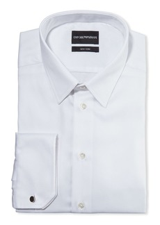 Armani Men's New York Micro-Pattern Dress Shirt  White