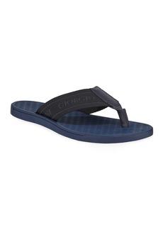 Armani Men's Nylon-Web Thong Sandals  Blue