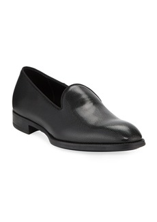 Armani Men's Pebble Textured Formal Loafer