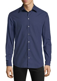Armani Men's Pin-Dot Sport Shirt