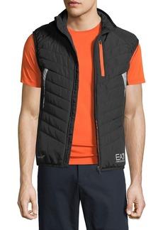 Armani Men's EA7 Quilted Zip-Front Vest