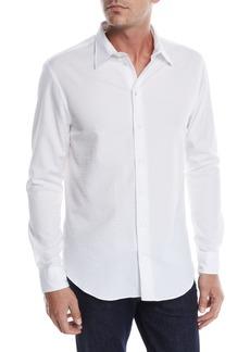 Armani Men's Seersucker Sport Shirt