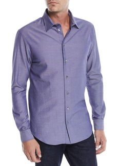 Armani Men's Seersucker Sport Shirt