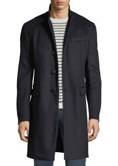 Armani Men's Single-Breasted Wool Top Coat