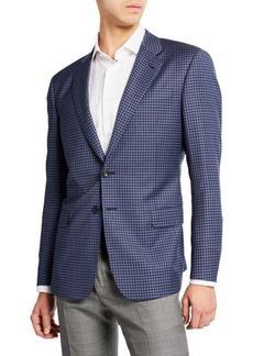Armani Men's Small District Check Sport Coat