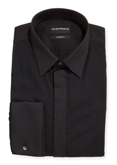 Armani Men's Solid French-Cuff Tuxedo Shirt