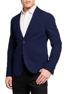 Armani Men's Solid Stretch Seersucker Sport Coat
