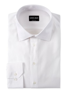 Armani Men's Solid Textured Dress Shirt