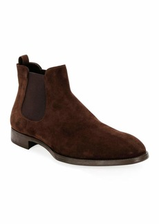Armani Men's Suede Chelsea Boots