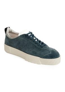 Armani Men's Suede Low-Top Sneakers  Blue