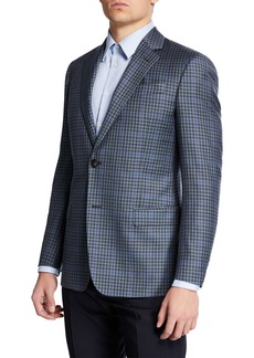 Armani Men's Super 130s District Check Sport Coat