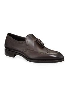 Armani Men's Tassel Wing-Tip Loafers