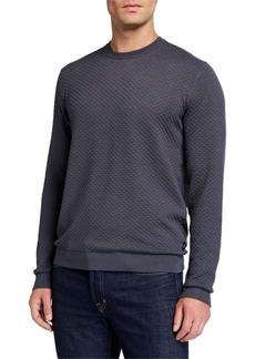 Armani Men's Textured Crewneck Sweater