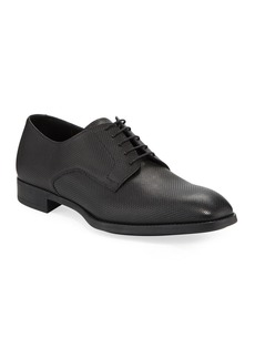 Armani Men's Textured Leather Derby Shoes