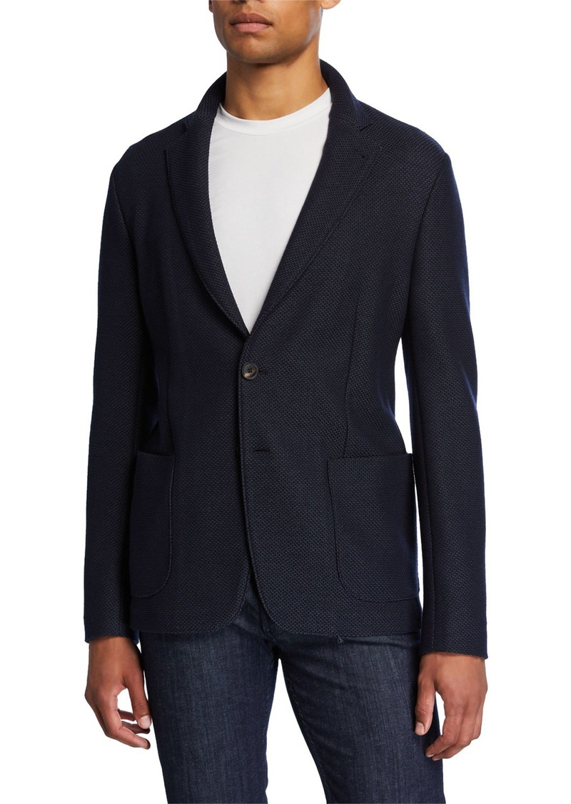 Armani Men's Textured Two-Button Soft Jacket