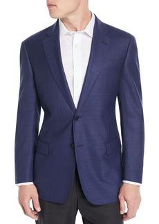 Armani Men's Textured Wool Blazer