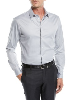 Armani Men's Thin Stripe Sport Shirt
