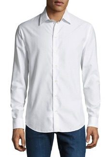 Armani Men's Tonal Chevron Sport Shirt