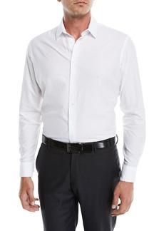 Armani Men's Tonal Embossed Chevron Sport Shirt