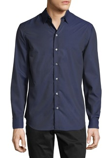 Armani Men's Tonal Geo-Print Woven Sport Shirt