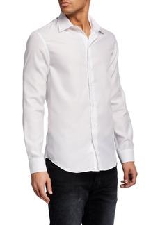 Armani Men's Tonal Geometric Guru Sport Shirt