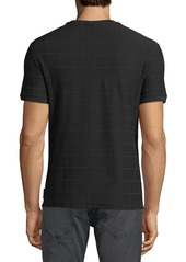 Armani Men's Tonal Grid Crewneck T-Shirt
