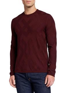Armani Men's Tonal-Pattern Crewneck Sweater