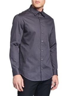 Armani Men's Tonal Texture Sport Shirt