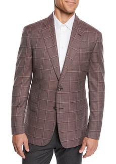 Armani Men's Tonal Windowpane Sport Coat