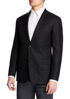 Armani Men's Windowpane Silk/Wool Sport Coat