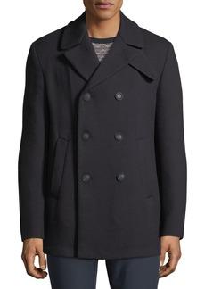 Armani Men's Wool Double-Breasted Pea Coat
