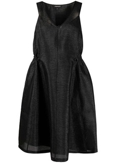 Armani metallic flared-mini dress