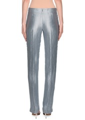 Armani Metallic Linen Chevron Pants  Ice Blue